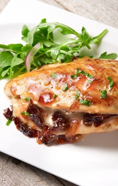 Sunsweet's Stuffed Chicken with Amaz!n Diced Prunes and brie cheese is the perfect sweet and savory entrée.