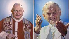 Foto: Vaticano: Primeras estampas de Juan Pablo II y Juan XXIII con la aureola http://www.zenit.org/es/articles/vaticano-primeras-estampas-de-juan-pablo-ii-y-juan-xxiii-con-la-aureola