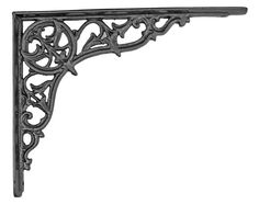 Centre Point Brackets - This magnificent bracket is one of the largest in our collection. It's an original Victorian design we found in a disused foundry. Unsurpassable British quality. Available in black or pewter.