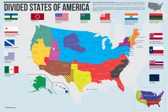 """A dream map of America envisioned by its enemies, both foreign and domestic The talk of a """"Confederacy of Climate Change States"""" sm..."""
