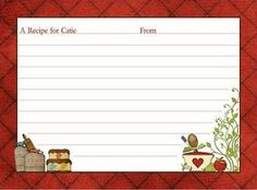 54 best recipe cards images on pinterest recipe cards printable rh pinterest com recipe card clipart free blank recipe card clipart