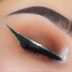 Black Eye Makeup, Makeup Eye Looks, Eye Makeup Steps, Colorful Eye Makeup, Cute Makeup, Glam Makeup, Eyeshadow Makeup, Smokey Eye Makeup, Eyeshadows