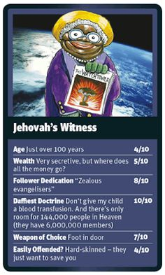 Funny World Religion Top Trumps Cards
