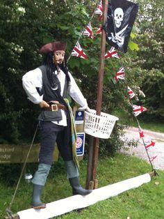 Captain Jack Sparrow at Acaster Malbis Scarecrow Festival near York, UK