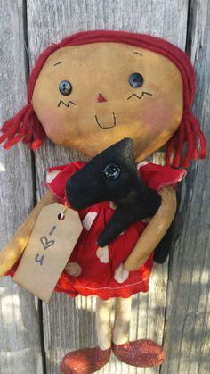 Primitive Raggedy Ann by raggedydollies on Etsy
