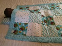 Noah's Ark baby quilt with pillow // by MyEclecticTreasure on Etsy, $75.00