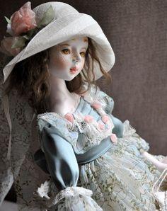 Купить Коллекционная кукла Агния - бирюзовый, кукла ручной работы, кукла в подарок, кукла авторская
