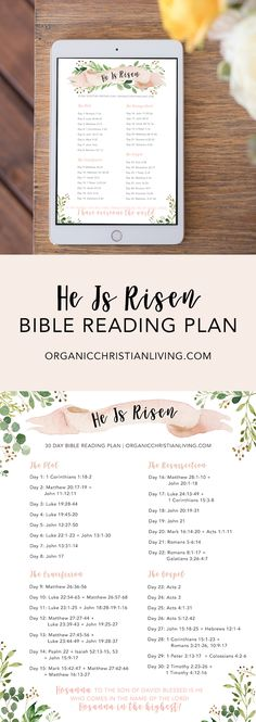Easter Bible Reading Plan For Women | Topical Bible Study | Bible Study Lessons | Bible Studies for Beginners | He Is Risen