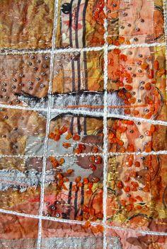 "Bozena Wojtaszek ""Orange snow"", textile art - detail"
