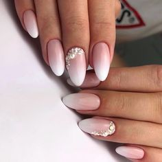 Która z Was chciałaby takie paznokcie do ślubu? 💍👰🏻💅🏻 ——… Which one of you would like such nails for the wedding? 💍👰🏻💅🏻 — A reliable color babyboomer can not speak french —- Indigo Nails Lab … Wedding Day Nails, Wedding Nails Design, Weding Nails, Simple Wedding Nails, Wedding Acrylic Nails, Cute Nails, Pretty Nails, Hair And Nails, My Nails