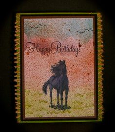 Born Free by Pam MacKay - Cards and Paper Crafts at Splitcoaststampers Men's Cards, Cards Diy, Kids Cards, Stampin Up Cards, Western Theme, Western Style, Horse Cards, Spring Books, Birthday Cards For Men
