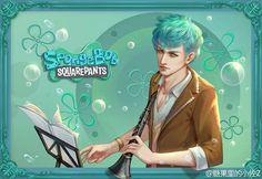 squidward tentacles in human form | Spongebob SquarePants Characters as Humans