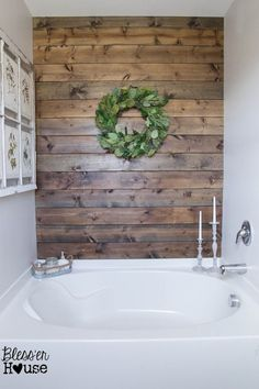 Master Bathroom Budget Makeover: Builder Grade to Rustic Industrial - Bless'er House