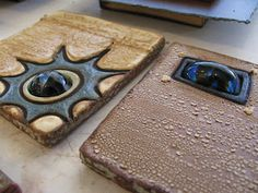 Meagan Chaney Gumpert - Studio Artist: Tile Plaque Variation and Process (slump glass into the tile cut-out)