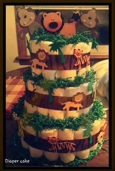 Safari diaper cake contact me for more info. Lmadrigalellis@gmail.com