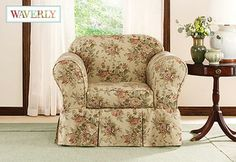 Sure Fit Slipcovers Bridgewater Floral by Waverly™ Separate Seat Slipcovers - Chair