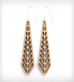 Chevron Earrings by Folia Design SF on Scoutmob Shoppe - would love these in my #dreamweekender