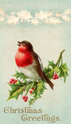 Beautiful vintage Christmas greetings.