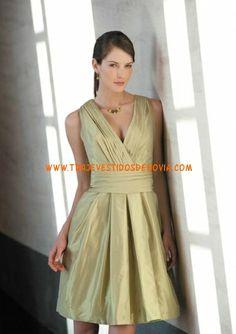Eva Taffetan Corto Vestido de Fiesta Marylise