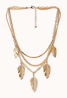 Anyone else immediately think of Golden Feathers from #BanjoKazooie? Earthy Multi-Chain Necklace by Forever 21 ($6.80)