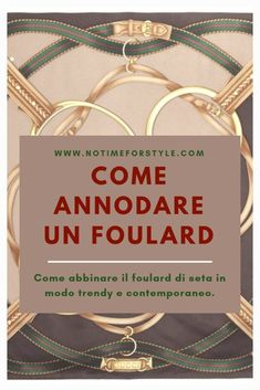 Come annodare un foulard: 5 modi trendy di farlo – no time for style Vogue Fashion, Diy Fashion, Womens Fashion, Cristian Dior, Top Skin Care Products, O Bag, New Fashion Trends, Fashion Bloggers, Classic Chic