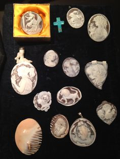I inherited a cameo brooch from my mother's Sicilian family. Scant is known about its history and I am keen to solve its mystery. I visited an artisan school on the island of Roatan, Honduras, Central America to learn about the craft. The only other workshops that handcraft cameos are in Italy and Japan. Here's a sample of the jewels made in Roatan. www.marianneperry.ca