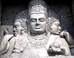 Shiva Elephanta: eternal Shiva sculpture; human form with five heads  -creator  -protector  -destroyer  -obscurer  -releasor (implied)