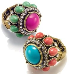 """Now I just love these rings. Got to add them to my new spring collection of accessories....appropriately named the """"show off ring"""""""
