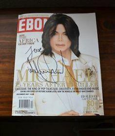 Michael Jackson Autograph Signed MJ Ebony Magazine CD No Fedora Promo LP Smile | eBay