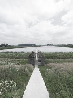 'Split Infinity' Bunker by RAAAF and Atelier de Lyon in Culemborg, The Netherlands - Fantastic Architecture Gothic Architecture, Landscape Architecture, Landscape Design, Architecture Design, Landscape Steps, Architecture Magazines, Garden Design, Bunker, Contemporary Landscape