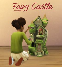 Fairy Castle Dollhouse for your children/toddler sims. I think it could also be used as a garden decoration if you wanted to Mods Sims, Sims 4 Mods Clothes, Sims 4 Clothing, Sims Four, Sims 4 Mm Cc, The Sims 4 Pack, Sims 4 Cc Packs, Sims 4 Toddler, Toddler Toys