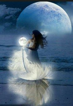 "geyashvecova: ""Art G. Moon Photography, Fantasy Photography, Fantasy Kunst, Fantasy Art, Love Images, Beautiful Pictures, Beautiful Moon, Moon Goddess, Angel Art"