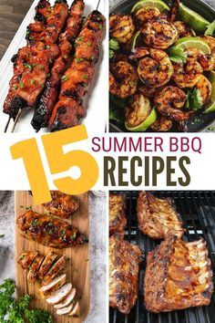 Grilling outside is one of the best parts of summer. Click here for 15 of our Summer BBQ Favorite Recipes that you can make too! #thecraftyblogstalker #BBQfavorites #BBQrecipes #BBQ Barbecue Recipes, Grilling Recipes, Pork Recipes, Chicken Recipes, Grilled Chicken, Tandoori Chicken, Breakfast Recipes, Dinner Recipes, Healthy Sides