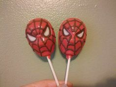 Spidey chocolate Lollys!