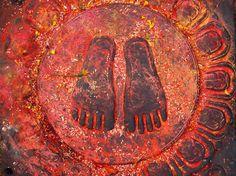 The Holy Buddha Feet - Nepal, Kathmandu, Swoyabhunath by Anastasiya Kononenko on 500px
