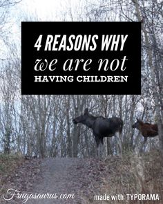 Having children might be the right decision for some, but it is not for us. Read on to discover four of our reasons why.