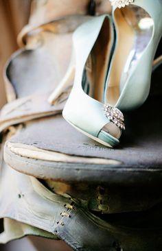 Wedding Shoes Light Blue Lace Via Etsy Shoes