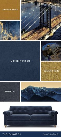 Colour Combinations Navy 038 Gold Colour Combinations Navy 038 Gold Mario Gamm Farben Colour Combinations Navy 038 Gold For a stylish nbsp hellip Sofa Colour Combinations, Lounge Colour Schemes, Blue Color Schemes, Blue And Gold Living Room, Navy Blue Living Room, Blue Rooms, Navy Gold Bedroom, Living Room Decor Colors, Living Room Color Schemes