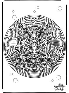 Animals Pattern Coloring PagesMandala