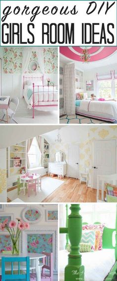 The most GORGEOUS girls room ideas on the internet! Every single one of these popular kids rooms is pin-worthy! from http://heatherednest.com