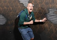 Scared At A Haunted House. This particular guy must have been seperated from Dora and gone the WRONG way!!! Must see all of these picutres...lol!