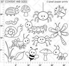 Are you looking for cute high quality images to use in your projects? You've come to the right place! You can print these digital stamps to create coloring pages for your party, educational material, paper crafts, watercolor and decorative painting and more! PLEASE TAKE A MOMENT TO READ MY PRODUCT DESCRIPTION AND SHOP POLICIES BEFORE PURCHASING THIS ITEM, even if you have purchased something from my shop in the past – I know this can seem a little bit boring but once you read them, you wi...
