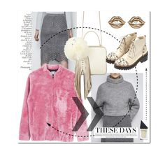 """Pink & grey for fall!"" by runway2street ❤ liked on Polyvore featuring Onar, The Volon, Anouki, Federica Tosi and GUiSHEM"