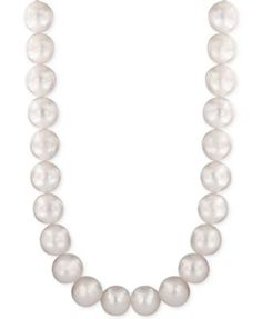 Pearl Lace by EFFY® Cultured Freshwater Pearl (10mm) Collar Necklace   macys.com