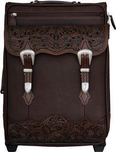 3D Chocolate Brown Carry-on Luggage AT COWGIRL BLONDIE'S WESTERN BOUTIQUE