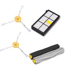 1 Tangle-Free Debris Extractor Set & 2 Side Brushes &Hepa Filter For iRobot Roomba 800 series 870 880 980 Vacuum Cleaning Robots #men, #hats, #watches, #belts, #fashion, #style, #sport
