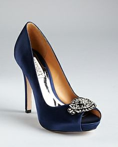 Badgley Mischka Pumps - Goodie Peep Toe on shopstyle.co.uk