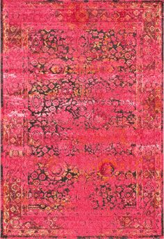 Give your home a fancy interior decorator look with this machine made rug. Made out of 100% polypropylene, this vintage rug is available in two colors and various sizes to help you redecorate your home according to your need.
