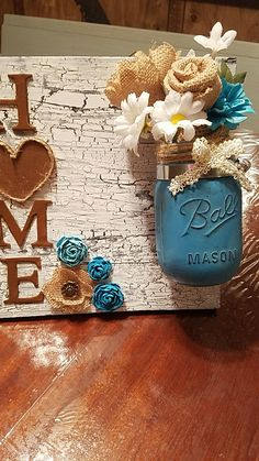 This was a special request with the  Jar done in teal... turned out great!