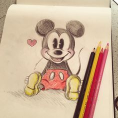 "13.3 k mentions J'aime, 66 commentaires - D sketch ✏ (@diana1992d) sur Instagram : ""#doodle ❤ #mickey"""